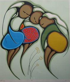 Daphne Odjig - Spring Love the mothers pregnant bellies Native Art, Native American Art, Daphne Odjig, Woodland Art, Small Drawings, Modern Art Paintings, Canadian Art, Indigenous Art, Aboriginal Art