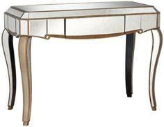 Amazon.com: Vanessa Antique Gold Mirrored Console Table: Home & Kitchen
