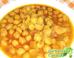 Garbanzo de Canarias Nut Recipes, Chickpea Recipes, Mexican Food Recipes, Great Recipes, Cooking Recipes, Healthy Recipes, Spanish Recipes, Spanish Stew, Spanish Cuisine