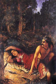 Nala and Damayanti (Reprint on Paper - Unframed))