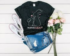 Mama Bunny Mom Easter T-Shirt - Family Easter Outfit - Easter Gift Mom - Easter Shirt Women - Matching Easter Tees - Womens Easter Shirt Women's Shirts, Kids Shirts, Tees, Easter T Shirts, Easter Outfit, Matching Set, Easter Gift, Family Shirts, Hoodies