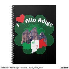 Südtirol – Alto Adige - Italien - Italia Notizheft Spiral Notizbuch