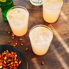 Mescal Paloma from Bon Appetit. If you use mezcal, choose a mild one that is not too smoky, like Amarás. Mezcal Cocktails, Fun Cocktails, Cocktail Drinks, Fun Drinks, Yummy Drinks, Cocktail Recipes, Alcoholic Drinks, Beverages, Cocktail Ideas