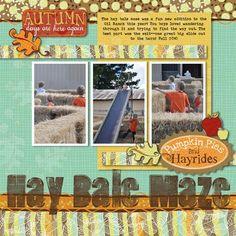 Hay Bale Maze Autumn Digital Additions Scrapbook Layout