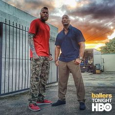 Want to thank my boy NBA's Chris Andersen @birdzilla.ro for his work tonight on #BALLERS. During our downtime on set, it was good to kick it w/ him and chop up redemption, hard ass work and never being satisfied with any success we're lucky enough to have come our way. Ever. #KeepItHardcore #HardestWorkersInTheRoom #BALLERS TONIGHT at 10pm on HBO. by therock