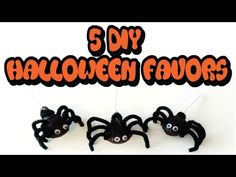 5 DIY HALLOWEEN FAVORS! ANOTHER MUST WATCH HALLOWEEN VIDEO! Easy! Cheap! Great Party Favors! Or For Trick Or Treaters! #diy #halloween #treats #favors #crafts #ideas #videos #tutorial #tutorials