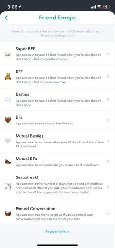 Snapchat Best Friend Emoji, Snapchat Streak Emojis, Friends Emoji, Snap Friends, Snapchat Friends, Snapchat Girls, Food Snapchat, Instagram Emoji, Instagram Snap