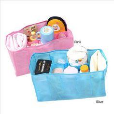 HOT Baby Diaper Nappy Water Bottle Changing Divider Storage Organizer Bag Liner