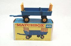 No.40 Hay Trailer & Original Box by Matchbox Lesney England 60's toy Car Great Gift Idea Stocking Stuffer  for Dad by RememberWhenToys on Etsy