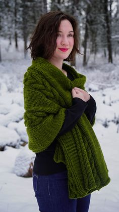 Ravelry: Chunky Cable Wrap by Cora Bowe
