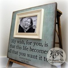 Picture Frame Personalized Picture Frames Custom Wedding Gift 16x16 MY WISH FOR You Anniversary Love Father Mother Parents Quote Song Family