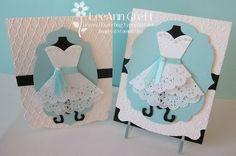 Doily Wedding Dress Tutorial from Flowerbug's Inkspot Dress Tutorials, Craft Tutorials, Wedding Anniversary Cards, Wedding Cards, Doily Wedding, Wedding Dress, Craft Wedding, Bridal Shower Cards, Dress Card