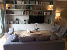 Super Home Interior Livingroom Tvs 34 Ideas Home Library Decor, Home Office Decor, Home Decor, Living Room Interior, Living Room Decor, Interior Livingroom, Home Design Diy, Cabin Homes, Trendy Home