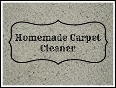 Homemade Carpet Cleaner | My Frugal Life
