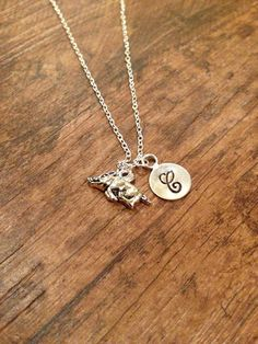 Arkansas Razorback initial necklace by kimsjewelry on Etsy, $18.00