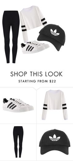 """adidas"" by vaughril on Polyvore featuring adidas and Topshop"