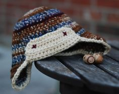 Adventure Baby! Newborn Aviator Hat - free crochet pattern by christine