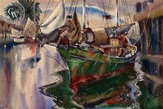 Shipshape, c. 1940's – California Watercolor