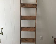 Rustic wood blanket ladder from countryheartdecor on Etsy, a global marketplace of handmade, vintage and creative goods.