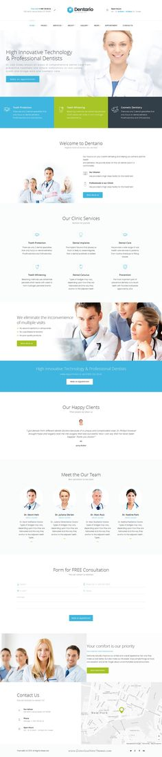 Dentario | Dentist, Medical & #Healthcare #WordPress #Theme is made compatible with such awesome plug-ins, as Revolution Slider, Appointment Calendar, Essential Grid, PO Composer, Visual Composer, etc.