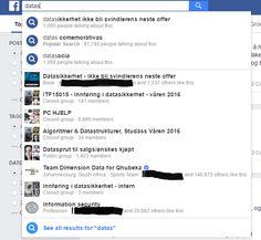 Få er klar over hvor kraftfullt søkefeltet på Facebook er. Vi tenker at søkefeltet er en kjapp måte å finne frem til venner eller grupper:    Søkefeltet er imidlertid svært mye mer. Det er også et glimrende verktøy for svindlere til å finne nettopp deg som mål for neste svindel.  Facebook int