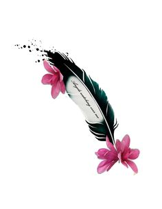 Feather and flower tattoo