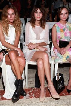 Fashion Week 2012 Erin Wasson, Alexa Chung et Christina Ricci