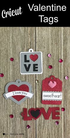 I used the Cricut Maker to create these cute Valentine Tags for Treat Bags. What are you making for Valentine's Day? #cricutmaker #Valentinesday #CricutMade #cricut