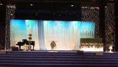 Church stage decorations....women's conference decor
