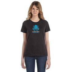 Women's short sleeve t-shirt with Kraken Aquatics Logo | krakenaquatics.com