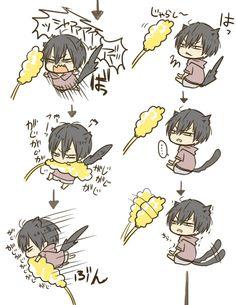 Yasutomo Arakita in cat