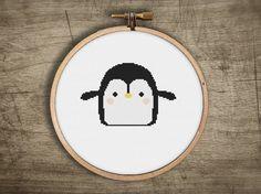 modern cross stitch pattern cute baby penguin kawaii par futska