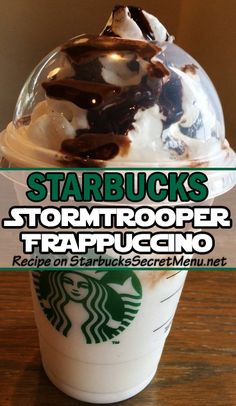 Stormtrooper Frappuccino Caught up in  madness? Take it a step further and grab a Starbucks Stormtrooper Frappuccino! Take it a step further and grab a Starbucks Stormtrooper Frappuccino! Frappuccino Recipe, Starbucks Frappuccino, Starbucks Coffee, Starbucks Smoothie, Starbucks Hacks, Starbucks Secret Menu Drinks, Starbucks Flavors, Starbucks Refreshers, Smoothies