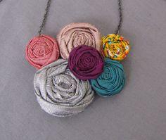 Handmade fabric necklace!