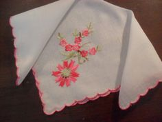 Vintage Hankie Handkerchief Beautiful by InVintageFashion on Etsy, $5.00