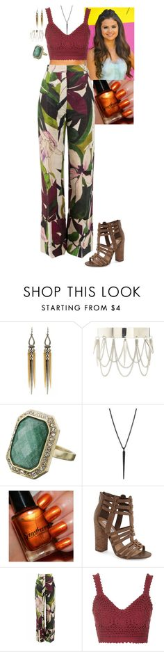 """Pocahontas"" by stinze on Polyvore featuring Ben-Amun, Charlotte Russe, Monsoon, Steve Madden, Erika Cavallini Semi-Couture and Topshop"