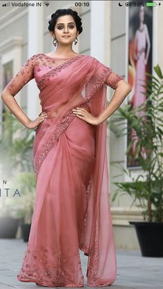 WhatsApp on 9496803123 to customise your handcrafted bridal attire. Book your appointment now WhatsApp on 9496803123 to customise your handcrafted bridal attire. Book your appointment now Half Saree Designs, Fancy Blouse Designs, Bridal Blouse Designs, Saree Blouse Designs, Blouse Patterns, Fancy Sarees Party Wear, Saree Designs Party Wear, Trendy Sarees, Stylish Sarees