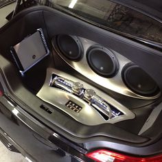 g37 custom car stereo trunk install