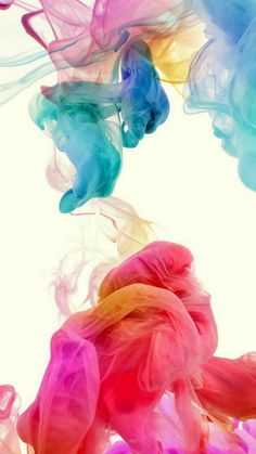 Colorful Ink In Water #iPhone #6 #wallpaper