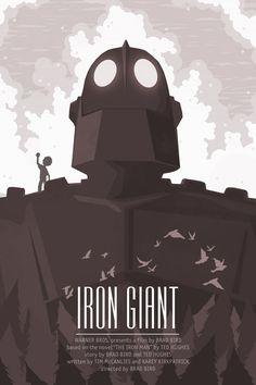 The Iron Giant - 12x18 - Movie Poster - iron giant, movie poster, poster, film. $18.00, via Etsy.