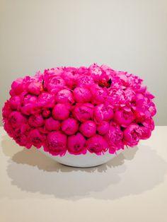 Bright Pink Peony make this arrangement pop!