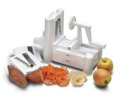World Cuisine A4982799 Tri-Blade Plastic Spiral Vegetable Slicer: http://www.amazon.com/World-Cuisine-A4982799-Tri-Blade-Vegetable/dp/B0007Y9WHQ/?tag=httpbetteraff-20