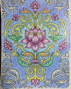 """Essa febre dos """"Jardins & Florestas"""" (animais incluídos), trouxe vários livros com temas bem legais. """"MANDALAS E OUTROS DESENHOS ZEN PARA COLORIR"""" é um desses. Muito bacana, vale muito a pena. Meio sem tempo mas tá aí a primeira página.  #livrodecolorir #colorindo #reinoanimal #florestaencantada #secretgarden #jardimsecreto #desenho #zen #colorindolivrosTop #jardimsecretoinspire #livros #livrocoloriramo #antiestresse"""