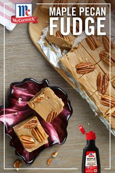 Want to learn how to make fudge this holiday season? Try our maple pecan fudge for the ultimate chewy & crunchy treat — perfect for snacking and gifting! Fudge Recipes, Candy Recipes, Sweet Recipes, Cookie Recipes, Dessert Recipes, Chef Recipes, Recipies, Fall Baking, Holiday Baking