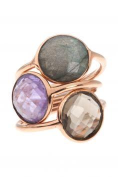 Marjana von Berlepsch ring rose gold plated sterling silver amethyst purple