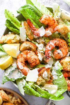 Shrimp Cesar Salad, Shrimp Salad, Seafood Salad, Seafood Dishes, Southern Baked Chicken Recipe, Shrimp Recipes, Salad Recipes, Healthy Recipes, Easy Diner
