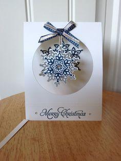 Stampin Up handgemachte Weihnachtskarte hängende von treehouse05