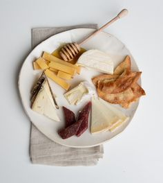 Too hot to cook? Try this summer cheeseplate, which can be dressed up into a full meal with a light salad and perhaps a bit of charcuterie or salumi