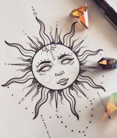 Drawing Tips sun drawing Art Drawings Simple, Art Painting, Sun Drawing, Cool Art Drawings, Art Tattoo, Drawings, Doodle Art, Hippie Art, Art