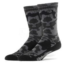 Troy Lee Designs Camo Crew Socks - Black